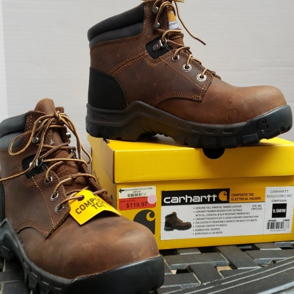 ce3883c9331 🎉Carhartt Rugged Composite Toe Boot Size 9.5 M/W NWT